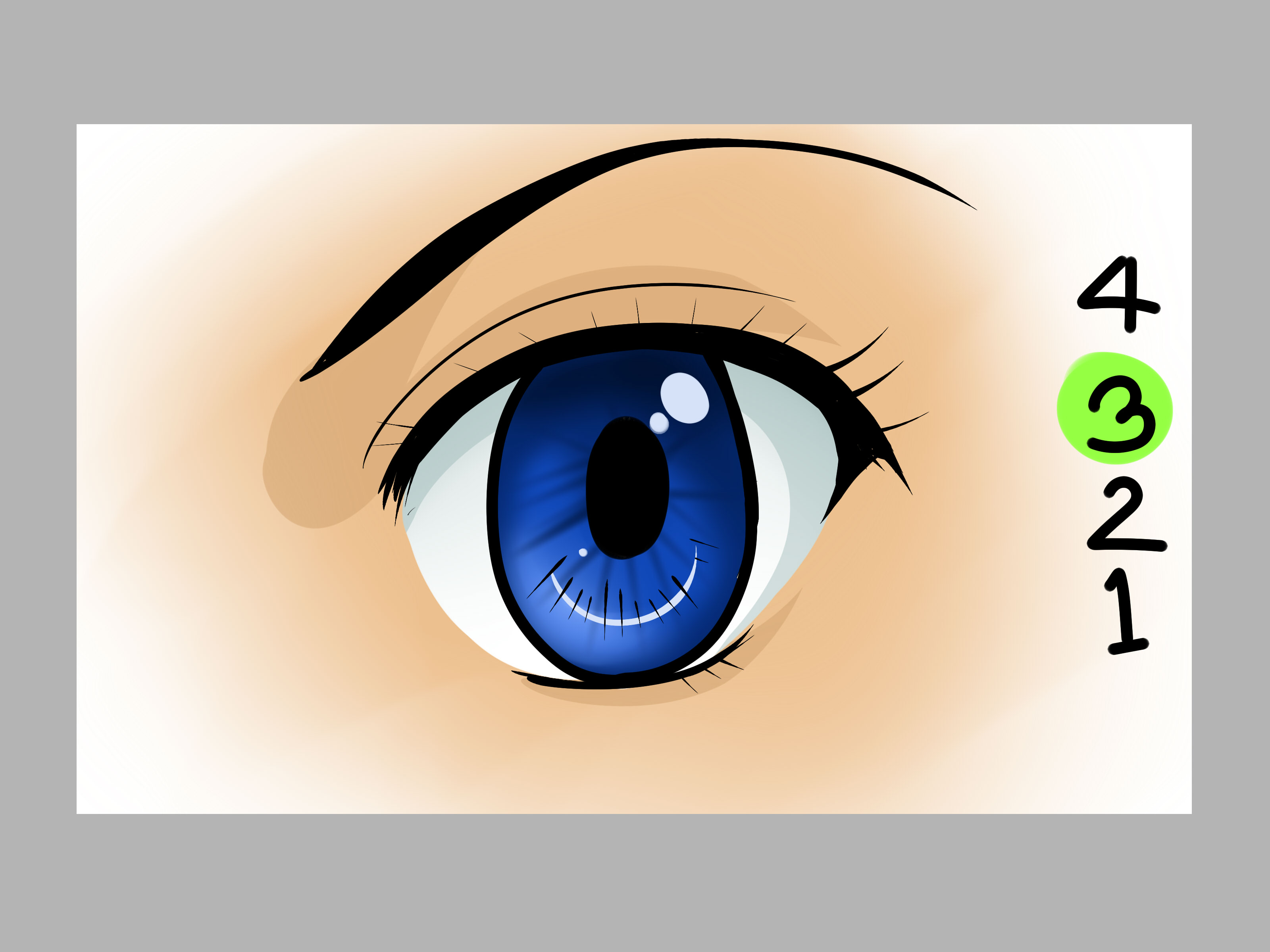 How to Draw Anime Eyes on the Computer  with Pictures    wikiHow