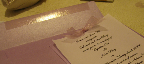 How to make wedding invitations youreventlist make your own handmade invitations using your computer and some common scrapbooking and arts and crafts supplies stopboris Images