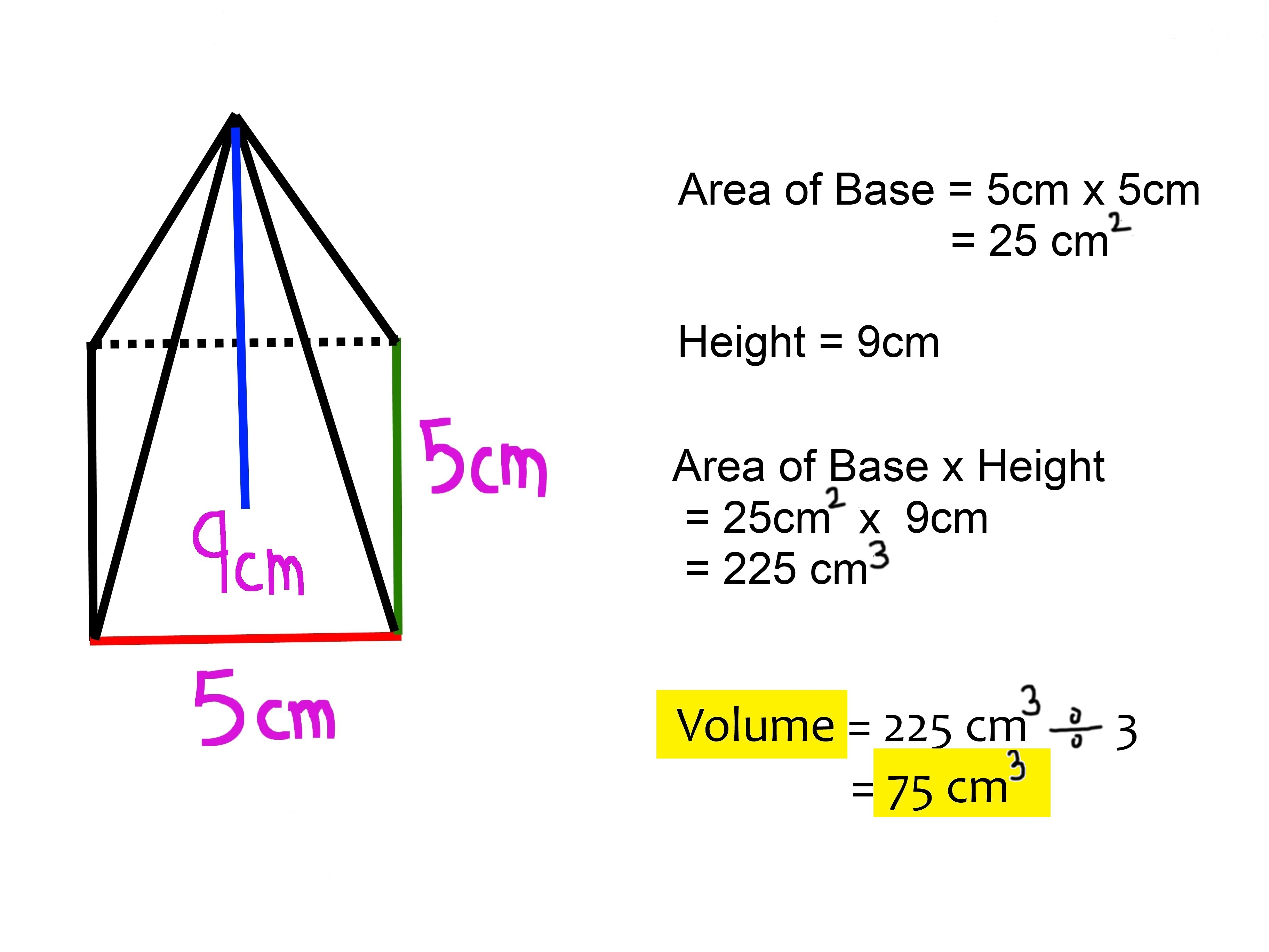 2 Easy Ways To Calculate The Volume Of A Square Pyramid
