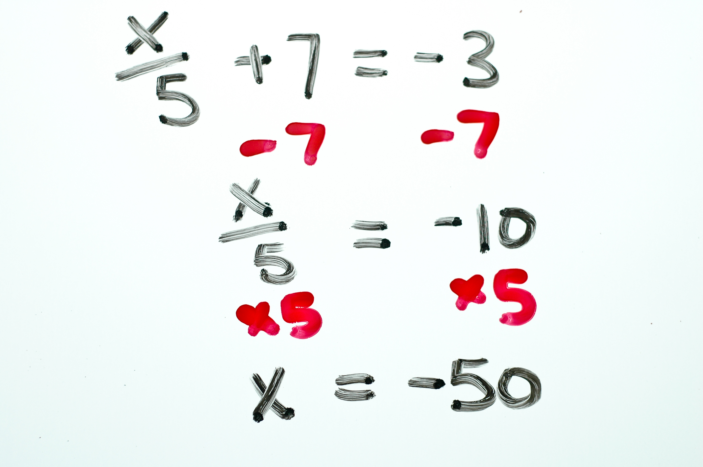 3 Ways To Solve Two Step Algebraic Equations