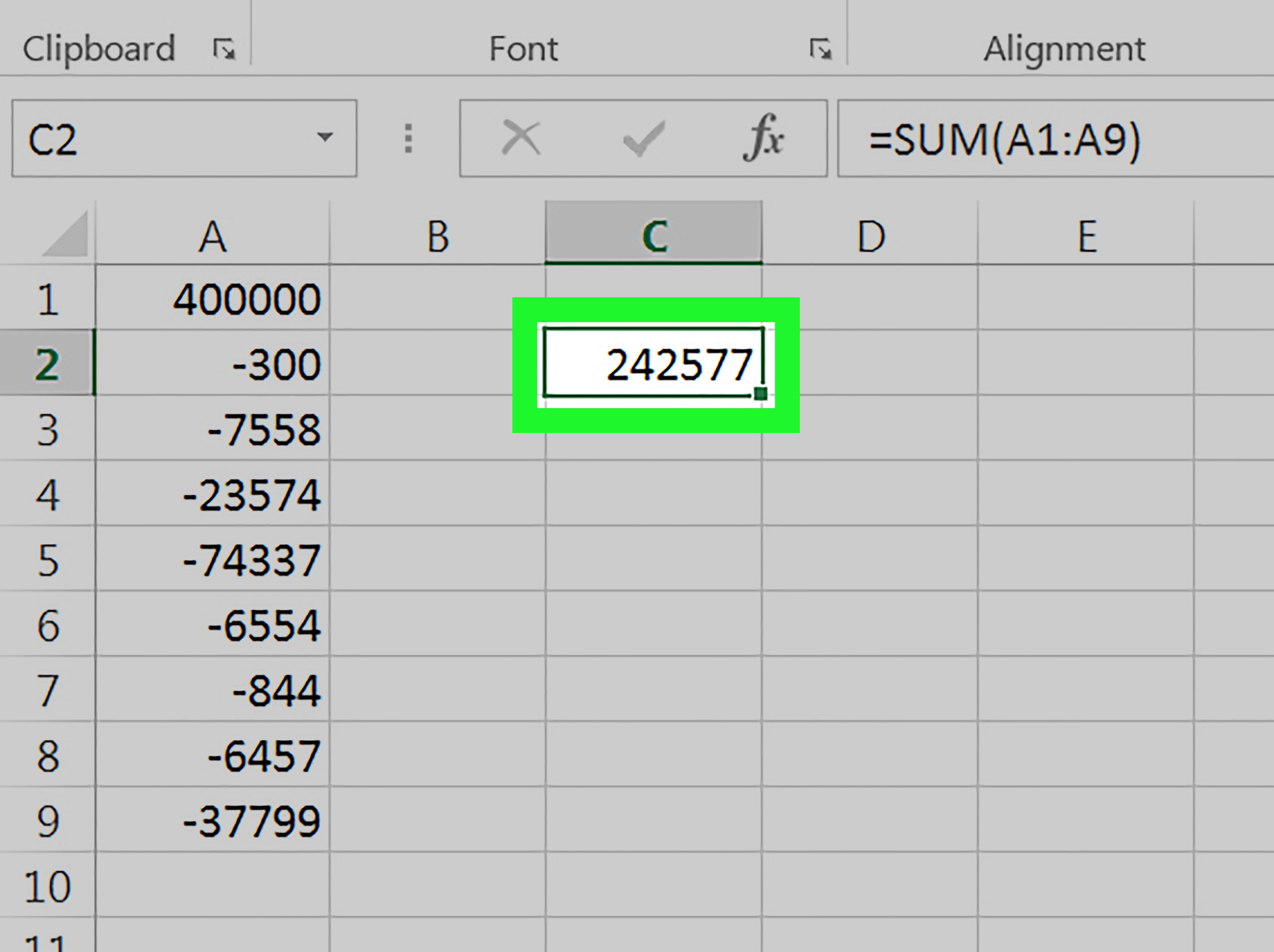 3 Ways To Subtract In Excel