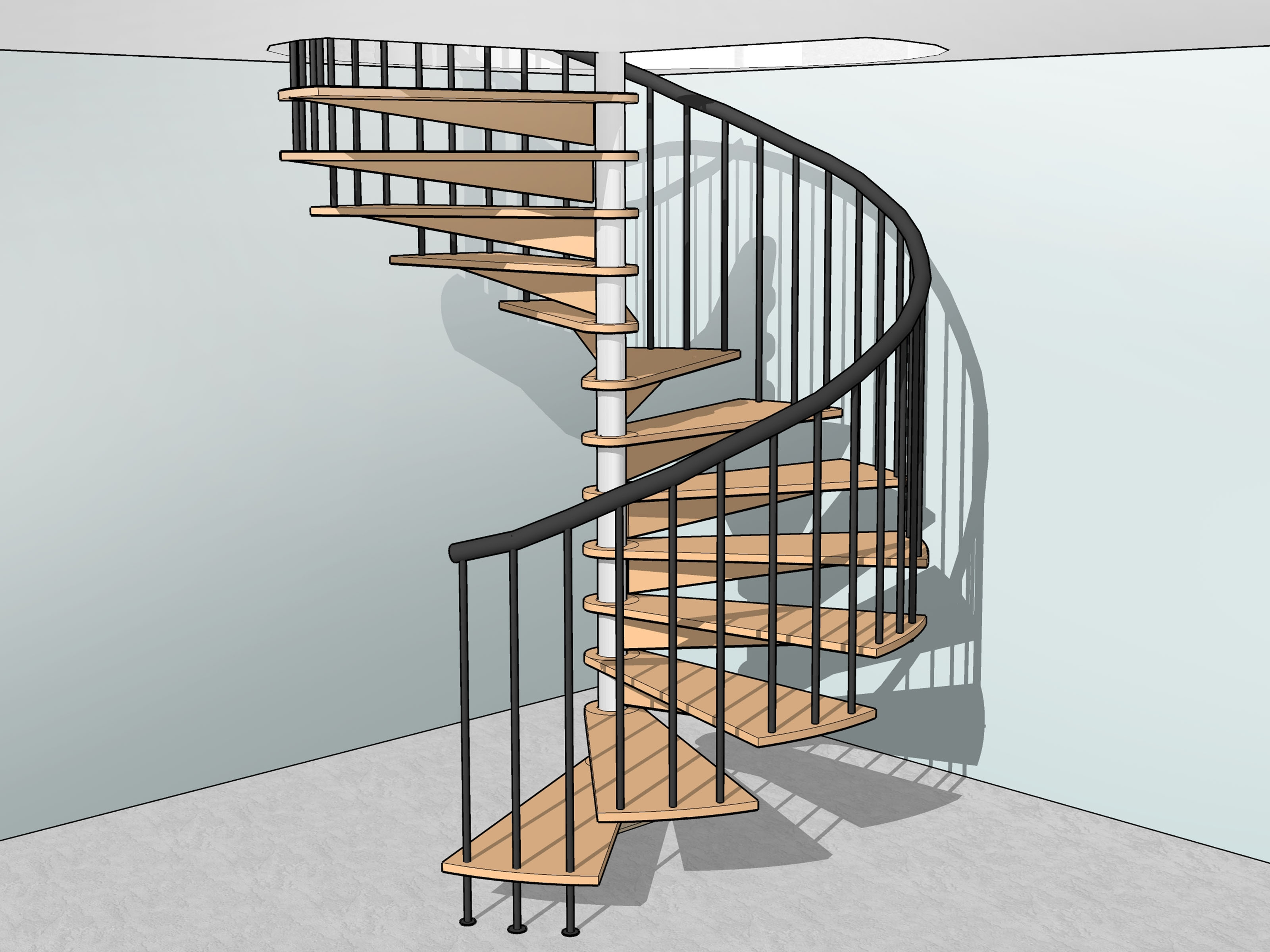 How To Build Spiral Stairs 15 Steps With Pictures Wikihow | Exterior Metal Spiral Staircase | Rustic Metal | Deck | Crystal Handrail | Bar Modern | Railing
