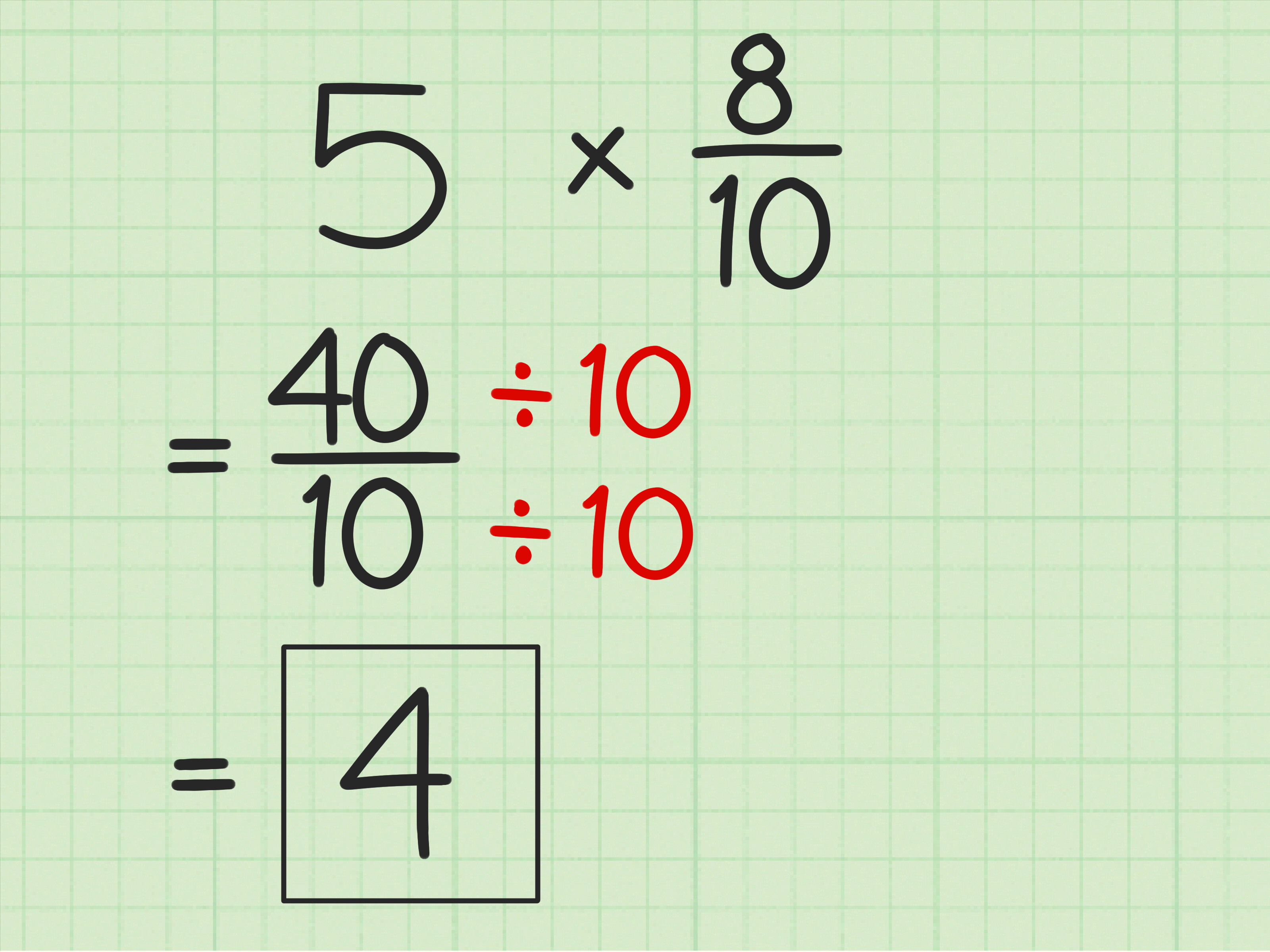 How To Multiply Fractions With Whole Numbers