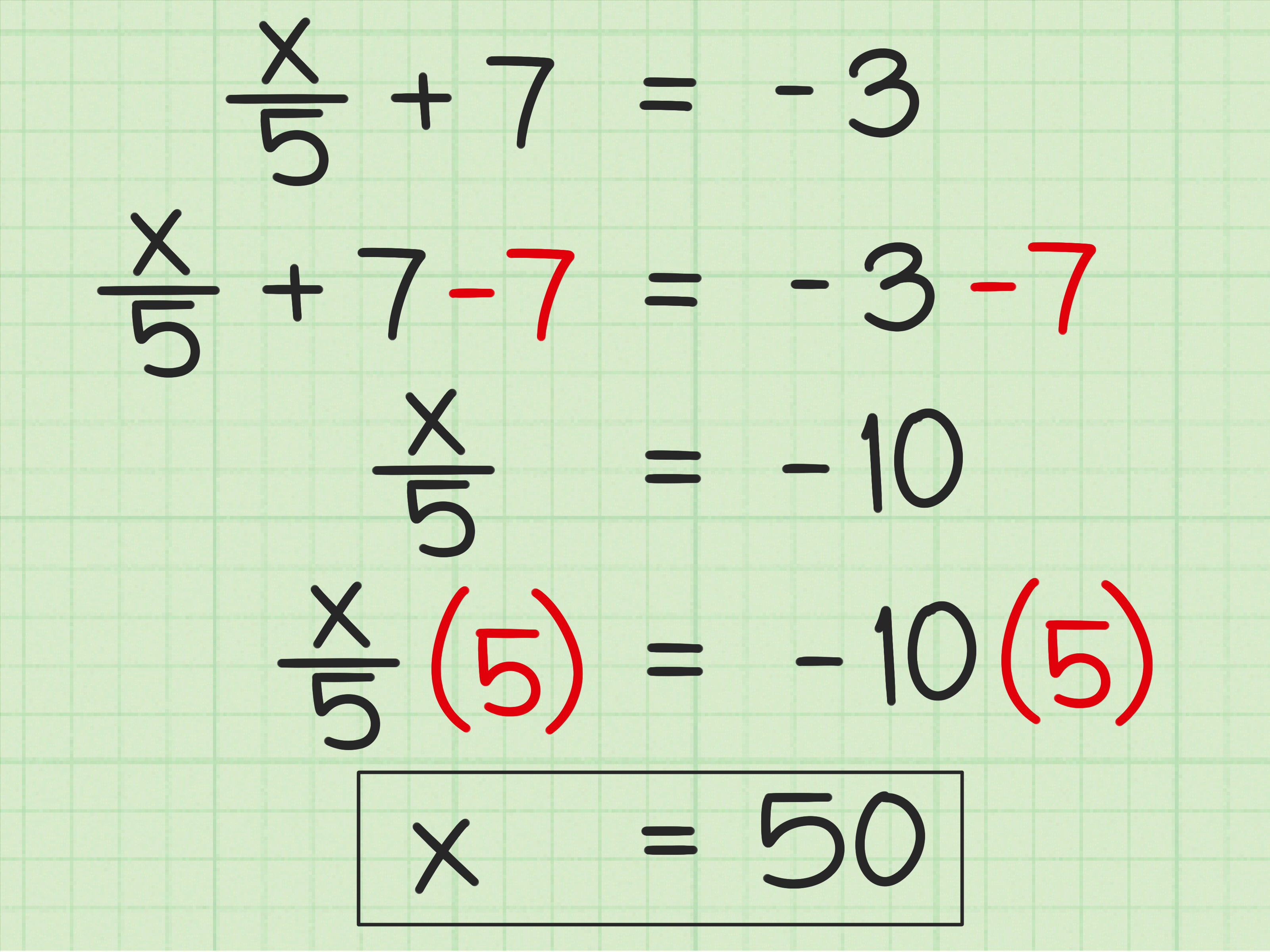 Section 1 3 Algebra Solving Two Step Equations Practice C