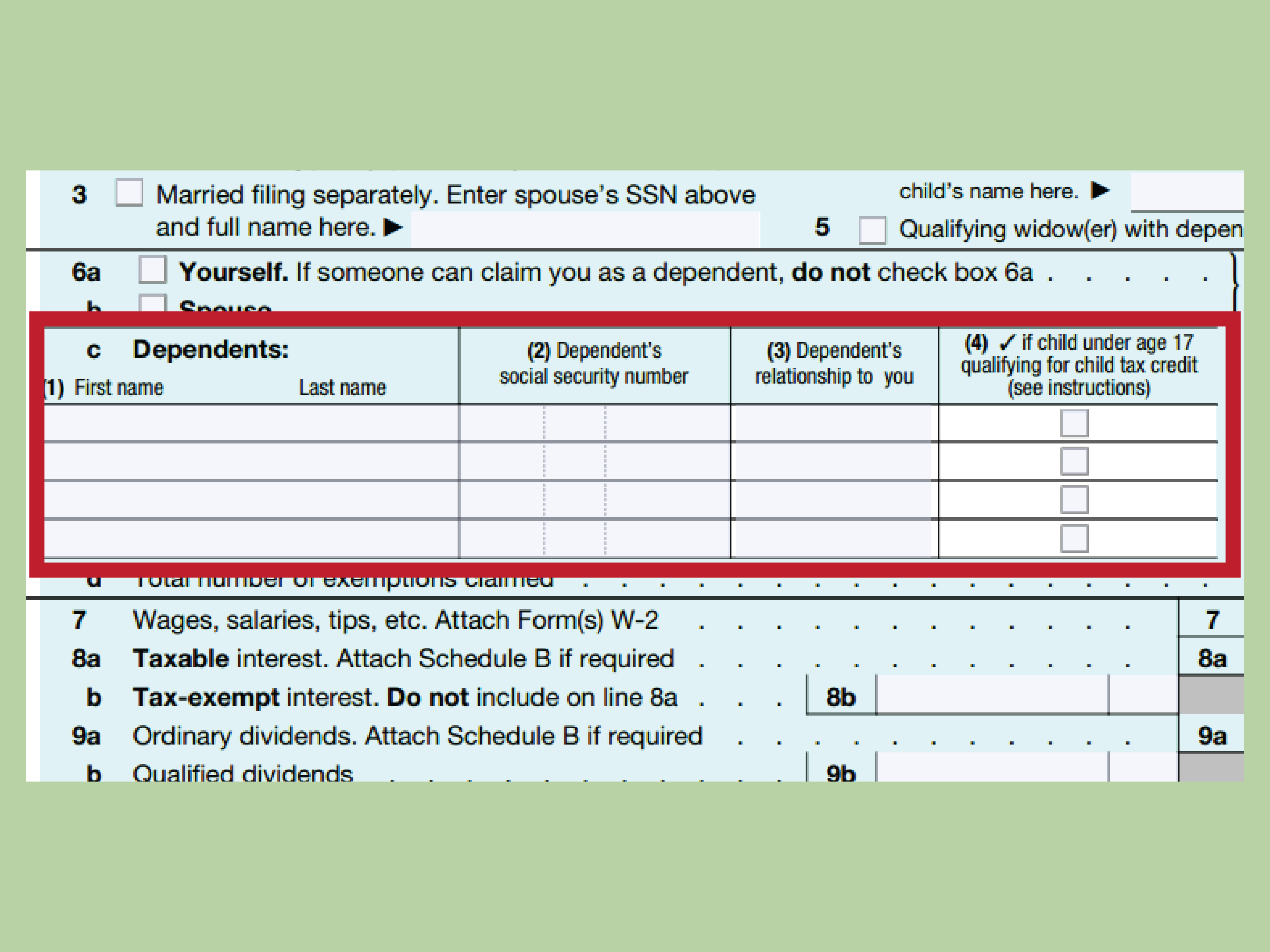A Standard Deduction Worksheet