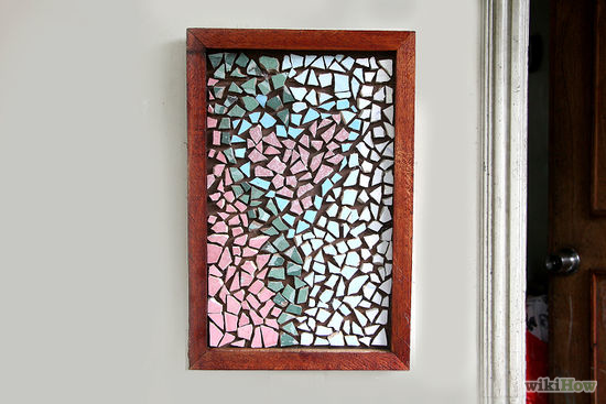how to make a mosaic from broken tiles