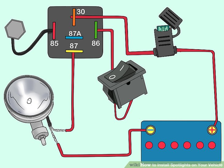 aid311982 v4 728px Install Spotlights on Your Vehicle Step 10 Version 3?resize=665%2C499&ssl=1 wiring diagram for spotlights the best wiring diagram 2017 sh049 relay wiring diagram at bayanpartner.co