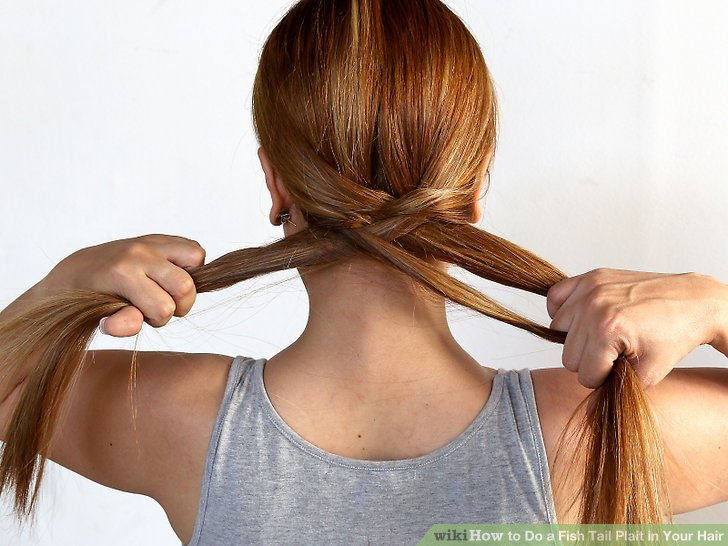 image titled do a fish tail plait in your hair step 5