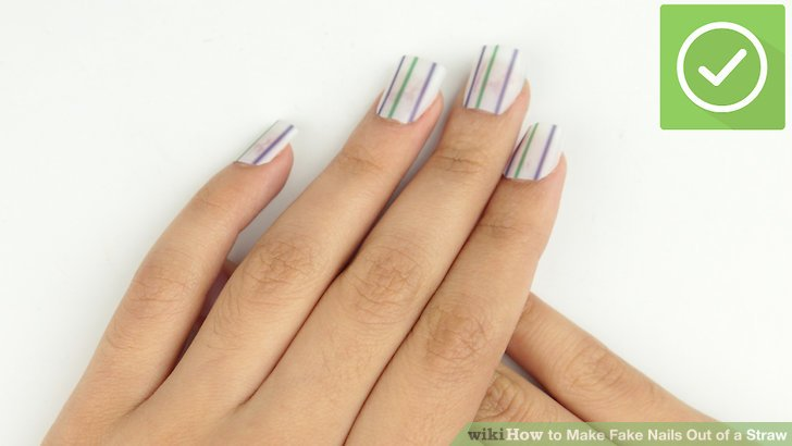 Image Led Make Fake Nails Out Of A Straw Step 10