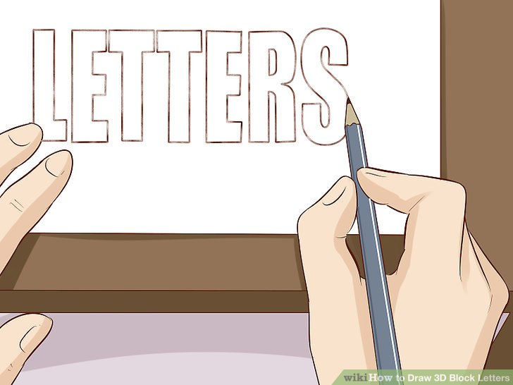 How To Draw Block Letters Alphabet Step By   mamiihondenk org