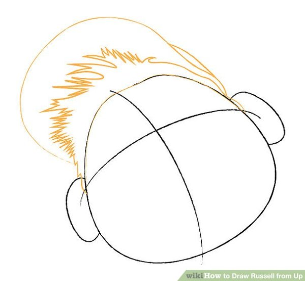How to Draw Russell from Up 13 Steps with Pictures