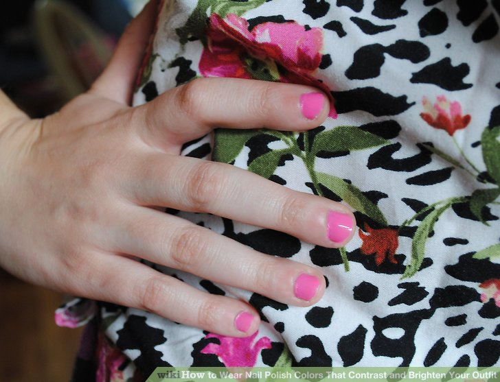 Image Led Wear Nail Polish Colors That Contrast And Brighten Your Outfit Step 6