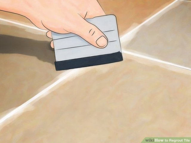How to Regrout Tile  13 Steps  with Pictures    wikiHow Image titled Install Marble Floor Tile Step 22