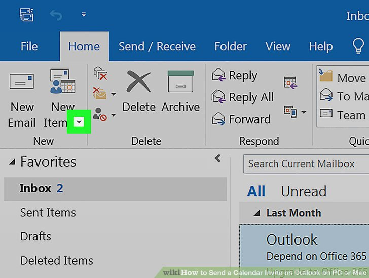 Image Titled Send A Calendar Invite On Outlook Pc Or Mac Step 2