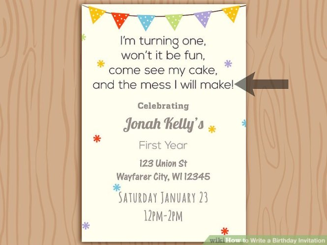 Example Of Invitation Card For Birthday