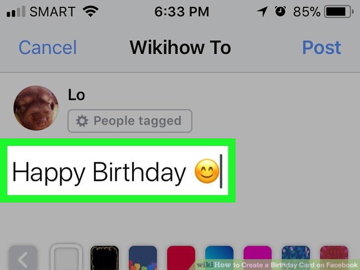 How Do You Create A Birthday Card On Facebook Sfb
