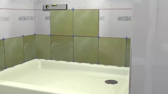 how to tile a shower with pictures