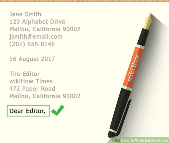Image Titled Write Letters To The Editor Step 10