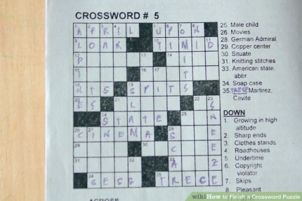 How to Finish a Crossword Puzzle: 6 Steps (with Pictures)