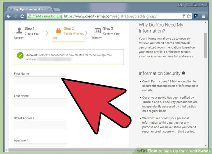Image Result For How To Sign Up For Credit Karma Wikihow