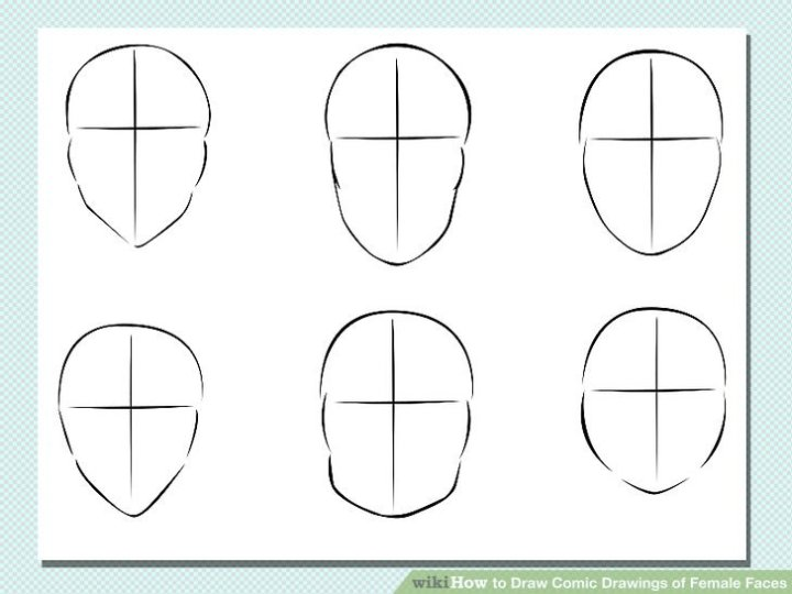 how to draw female cartoon faces