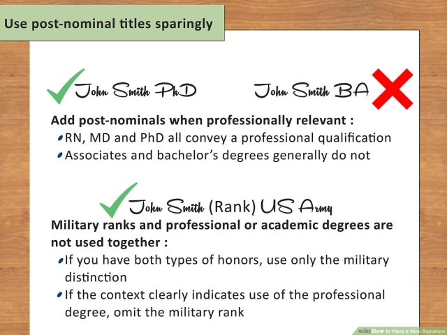 How to Have a Nice Signature: 15 Steps (with Pictures) - wikiHow
