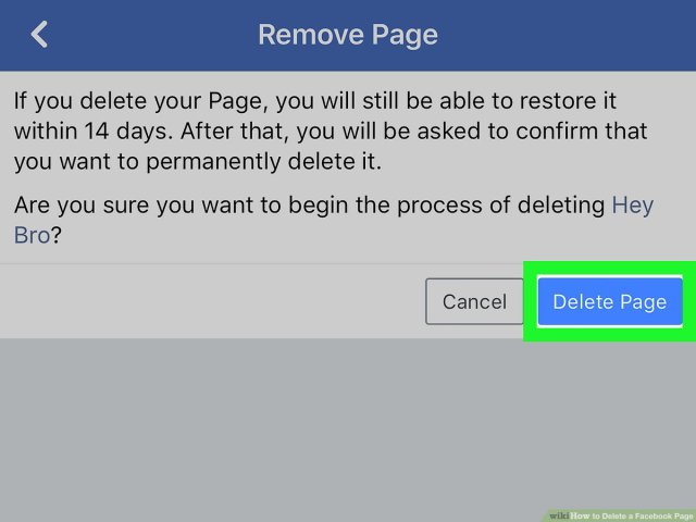 How to Delete a Facebook Page (with Pictures) - wikiHow