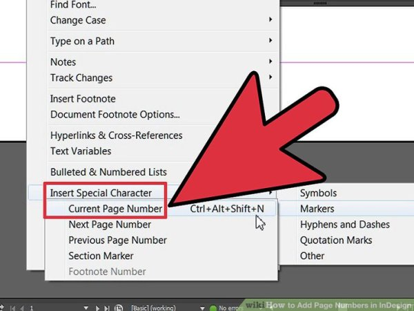 How to Add Page Numbers in InDesign: 12 Steps (with Pictures)