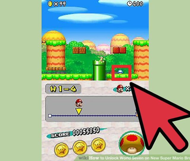 Image Titled Unlock World Seven On New Super Mario Bros Ds Step 3