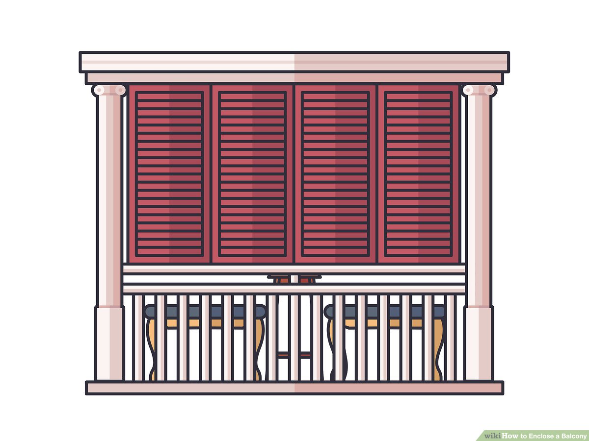 3 ways to enclose a balcony wikihow