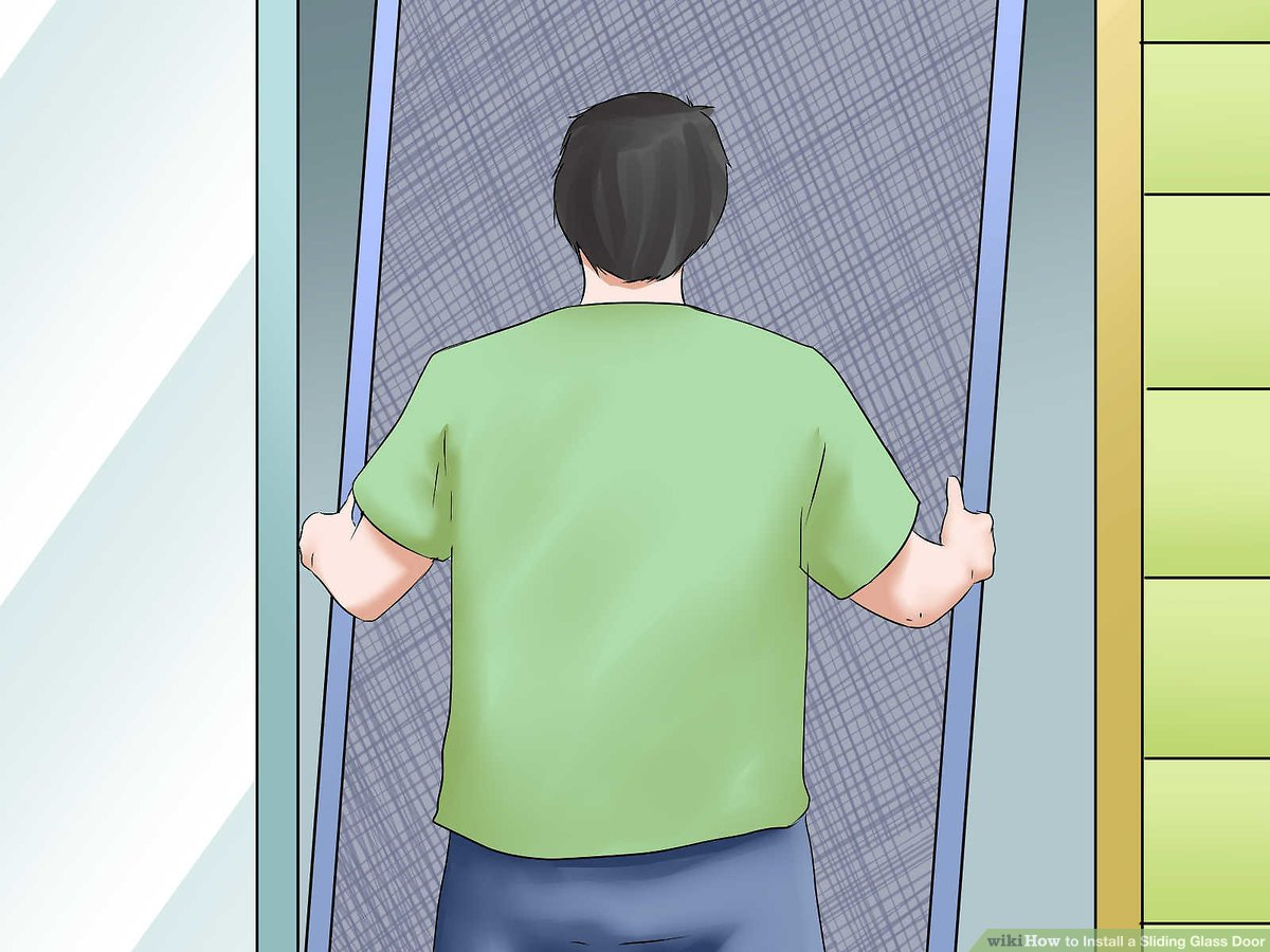 how to install a sliding glass door 12