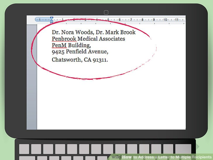 Image Led Address A Letter To Multiple Recipients Step 1