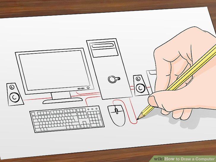 Label And Parts Computer Desktop Draw