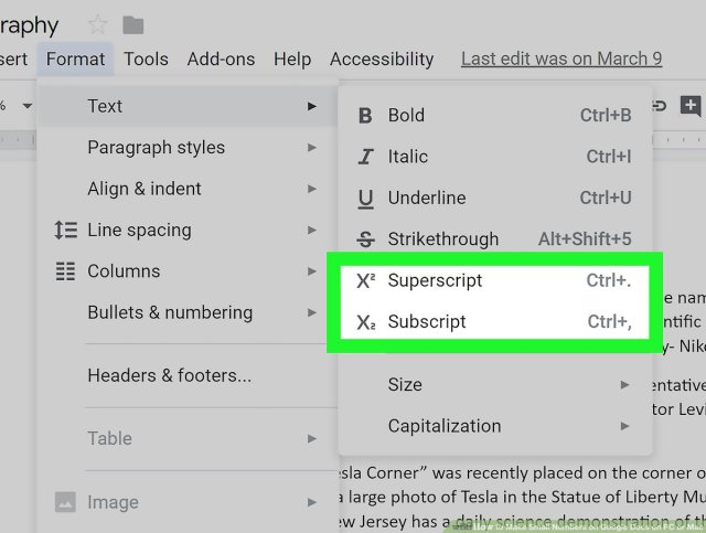 Simple Ways to Make Small Numbers on Google Docs on PC or Mac