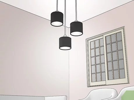 living room without ceiling lights
