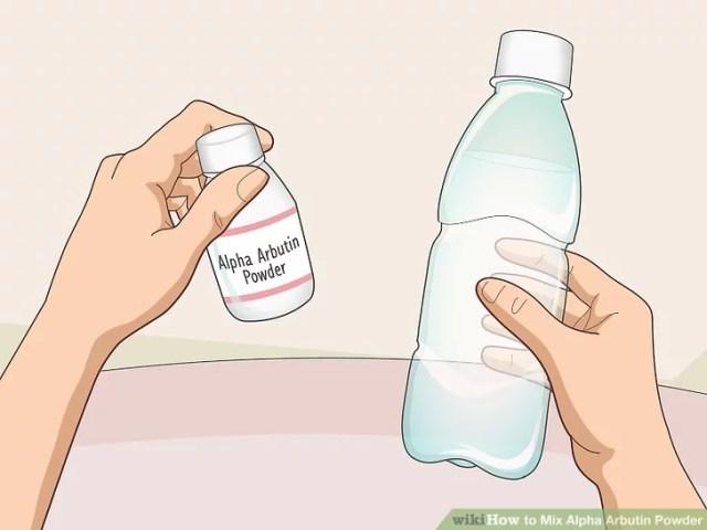 حل بودرة ألفا أربوتين في الماء قبل إضافتها إلى المنتجات الأخرى