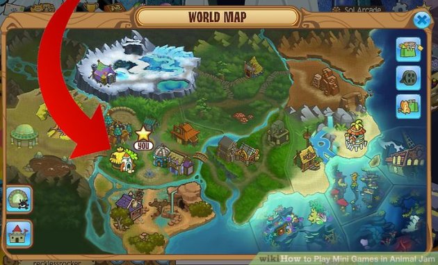 How to Play Mini Games in Animal Jam  5 Steps  with Pictures  Image titled Play Mini Games in Animal Jam Step 1