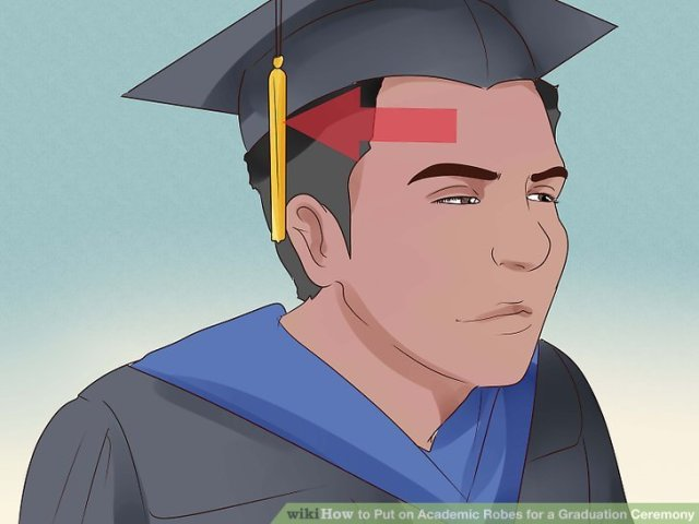 Image titled Put on Academic Robes for a Graduation Ceremony Step 13