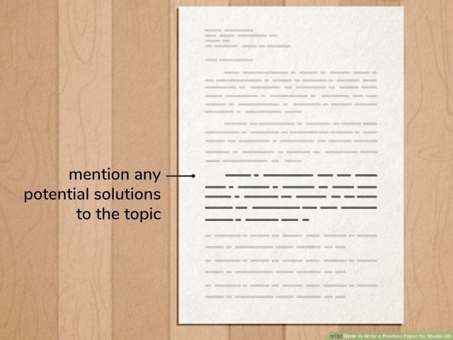 How to Write a Position Paper for Model UN: 11 Steps