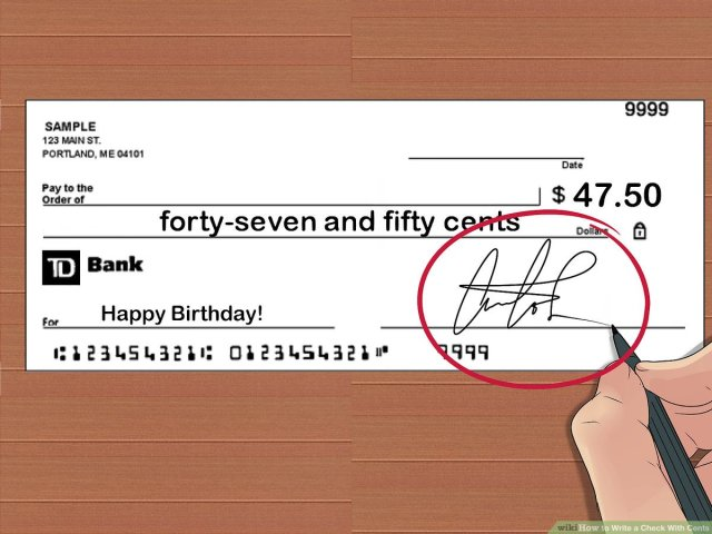 How to Write a Check With Cents: 15 Steps (with Pictures)