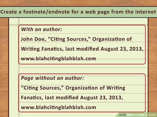 4 Easy Ways to Cite a Quote (with Pictures) - wikiHow