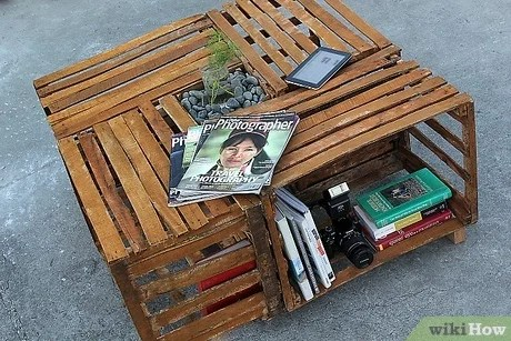 how to make a crate coffee table 9