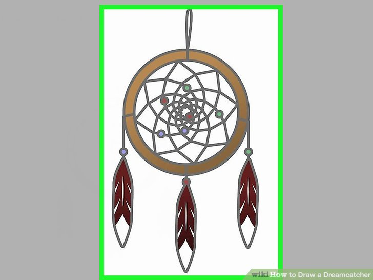 How To Draw A Dreamcatcher 13 Steps With Pictures WikiHow