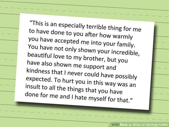 How To Write An Apology Letter 15 S With Pictures Wikihow