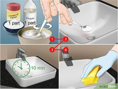 3 ways to clean a ceramic sink wikihow