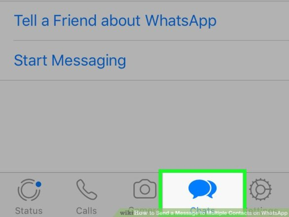 Image titled Send a Message to Multiple Contacts on WhatsApp Step 2