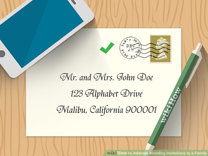 Image Led Address Wedding Invitations To A Family Step 17