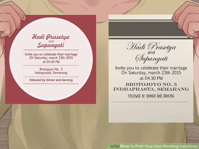7 Ways To Print Your Own Wedding Invitations Wikihow