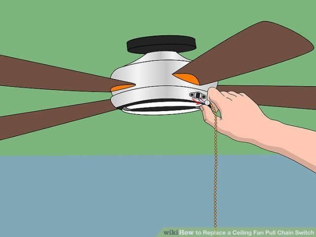How to Replace a Ceiling Fan Pull Chain Switch  with Pictures  Image titled Replace a Ceiling Fan Pull Chain Switch Step 4