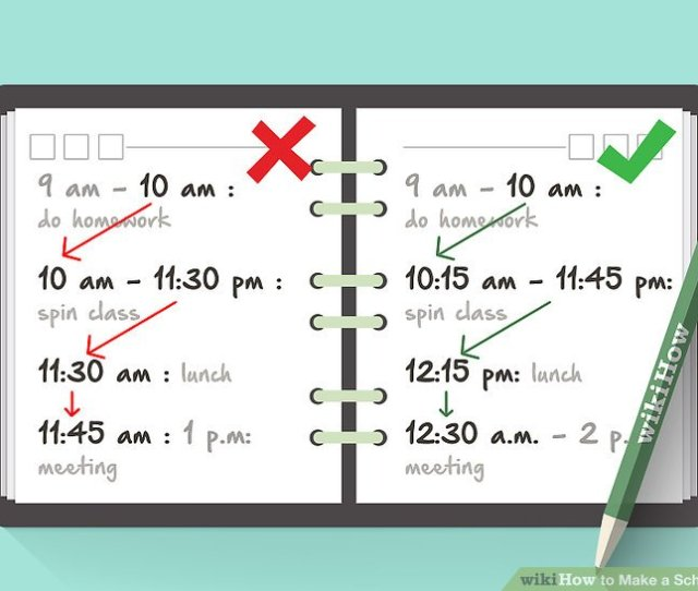 Image Titled Make A Schedule Step 16